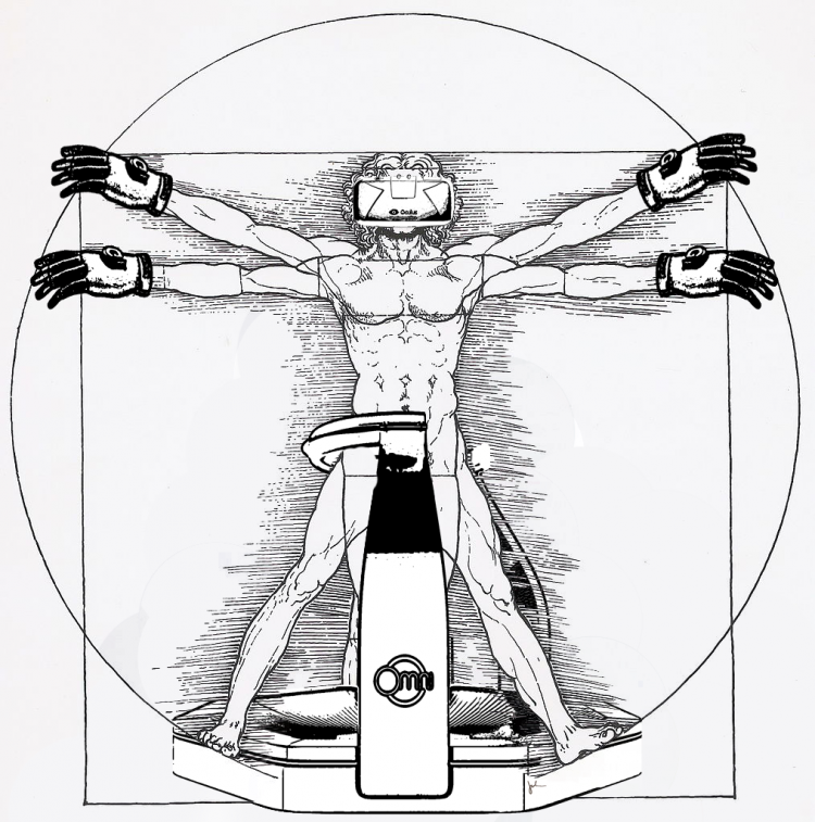 Vitruvian Virtual Reality Man